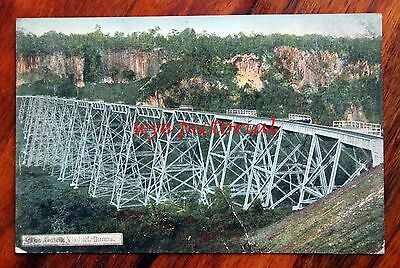 Burma  Myanmar Gotcik Viaduct   Early 1900's Postcard