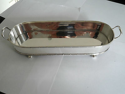 Vintage Silver Plate Dish Tray Holder Cheese Biscuits Crispy Thins Mappin & Webb