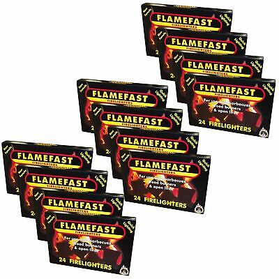 Flamefast 12 x 24 = 288 Firelighters Quick Barbecue Wood Burner Fire Starters
