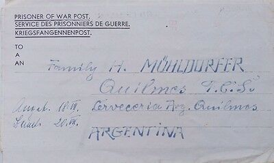 Great Britain 1946 Dancers Hill Prisoner Of War Camp Transorma Cover - Argentina