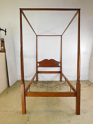 Vintage Hagerty Cohasset Twin Antique Americana Style Post Canopy Bed
