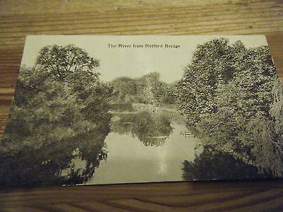 Early  Valentines Card -  The River From Retford  Bridge  -  Notts - Unused Card