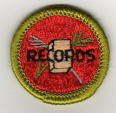 Farm Records Merit Badge Type G, Cloth Back  (1961- 71), Mint!