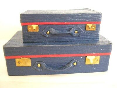 KIT 1/12th scale Set of 2 SUITCASES leather - vintage luggage case bag HB