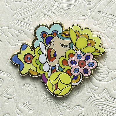 James Jean Figaro Bouquet Limited Edition Enamel Pin /500 Polished Brass