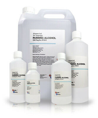 Rubbing Alcohol - 70% IPA Isopropyl Alcohol 250ml - 25L