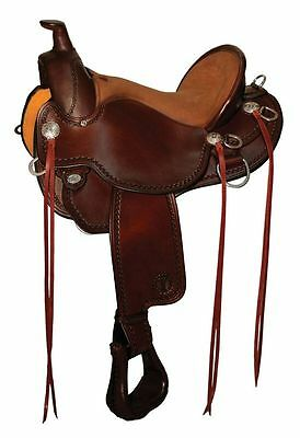 "Circle Y - 15"" Longear Mule Flex2 Trail Saddle #1158 Walnut --Full Mule Bars"