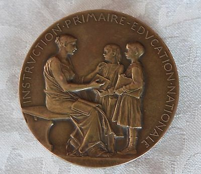 Antike Medaille Frankreich 1897-1898  Signiert O. Roty