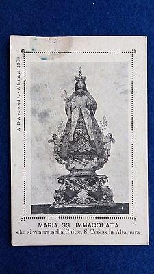 Santino Holy Card Estampa Andachtsbild: MADONNA IMMACOLATA - ALTAMURA