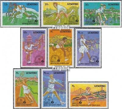 Lesotho 732-740 (kompl.Ausg.) postfrisch 1988 Internationaler Tennisverband
