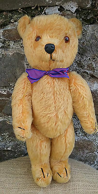 Vintage old British Dean's Rag Book mohair teddy bear, 1950s, 19""