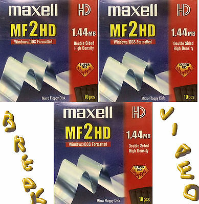 FLOPPY DISC MF 2HD N.03 SCATOLE (30 disc) MAXELL MICRO - NUOVO
