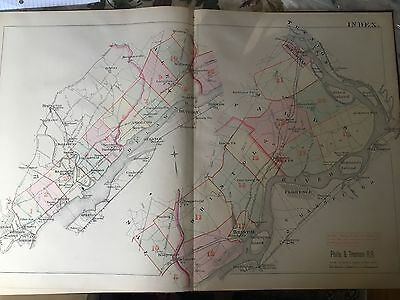 1885 Frankford To Trenton Rr Index Page Plat Atlas Map