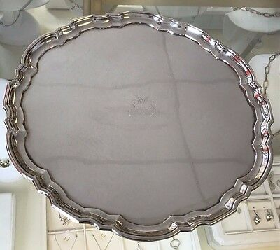 "Tiffany & Co CHIPPENDALE round 12"" Sterling Silver Tray"