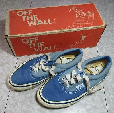 Nos 1980's VANS Skateboard Shoes with Off The Wall Box Oldschool Bmx Sneakers
