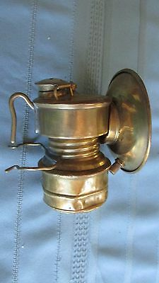 All Brass Shanklin Manufacturing Company Guy's Dropper Miners Carbide Cap Lamp