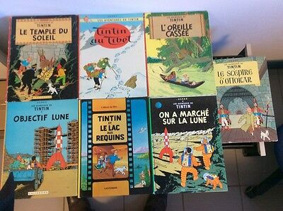 lot 7 BD de Tintin anciens herge casterman