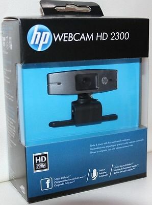 HP HD 2300 Webcam High Definition 720p USB Microphone Original Genuine Brand NEW