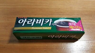 Lotte Arabica (Coffee Flavor) Chewing Gum Made in Korea