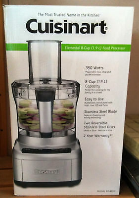 Cuisinart Elemental 8 Cup FOOD PROCESSOR Small Kitchen Appliance - NEW IN BOX