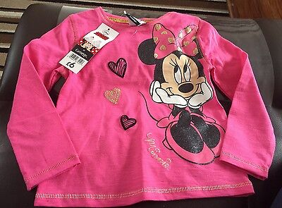 Bnwts Minnie Mouse Top 18-24 Months Stunning
