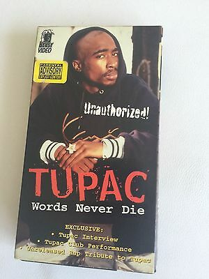 2Pac Tupac Shakur collector's item - Unauthorized Words Never Die VHS
