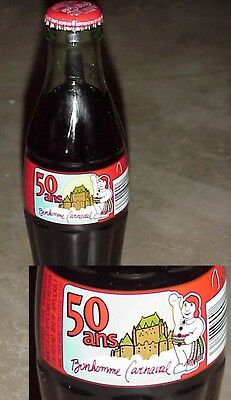 50 years Celebration Quebec City Winter Carnival Coke Bottle + Carrying Box