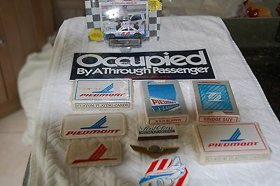Lot of PIEDMONT AIRLINES items 11 Patches Model Cards Button more