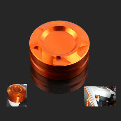 New CNC Motorcycle Radiator Water Pipe Cap Cover For KTM Duke 125 200 390 Orange
