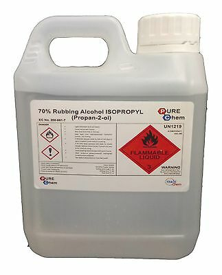1L Jerry Container Rubbing Alcohol - 70% Pure IPA Isopropyl Isopropanol PUREChem