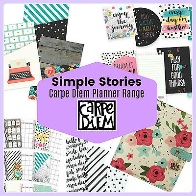 Simple Stories CARPE DIEM Planner Accessories & inserts - Filofax compatible NEW