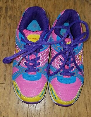 Athletech Girls Tennis/Athletic Shoes - size 13M - Pink, Blue, Yellow