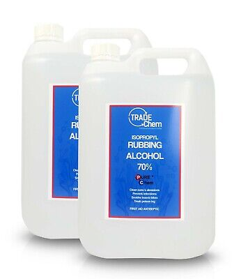 2 x 5L Container Rubbing Alcohol - 70% Pure IPA Isopropyl Isopropanol PUREChem