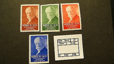 Norway  Scott # 85-8  Mnh  Vf  # 50549