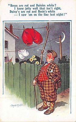 POSTCARD  COMIC  DONALD  McGILL    Red  and  White  Drawers....