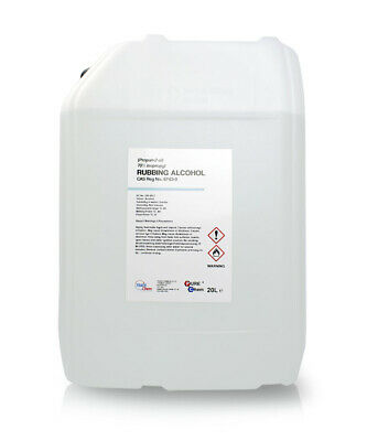 20L Container Rubbing Alcohol - 70% Pure IPA Isopropyl Isopropanol PUREChem