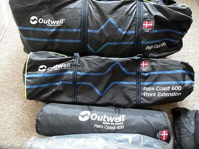 Outwell Palmcoast 600 Tent Bundle - 6 Person Family Tent - Brand New and Proofed