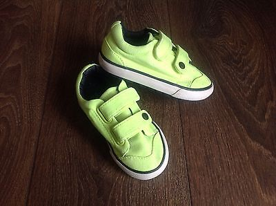 Next Bright Yellow Shoes / Trainers, Size Infant 6, Washed, Clean, Excellent