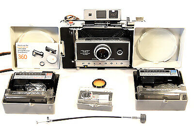 Polaroid Land Camera 360 With Tons Of Extras! Excellent Condition.