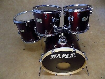 Mapex V Series 4pc Drum Kit Shell Pack Wine Red
