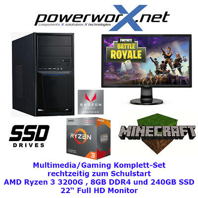 AMD GAMER KOMPLETT PC A10-7850K 4x3.70GHz 8GB 240GB SSD HDD Radeon R7 COMPUTER