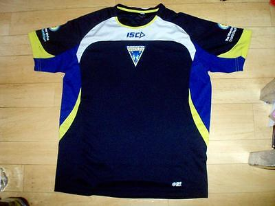 Warrington Wolves Men's Medium rugby league training(?) shirt jersey top ISC