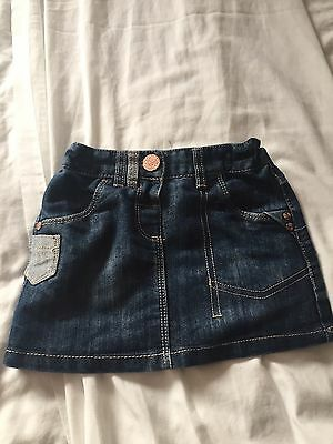 Girls Denim Skirt From Next, 12 - 18 Months