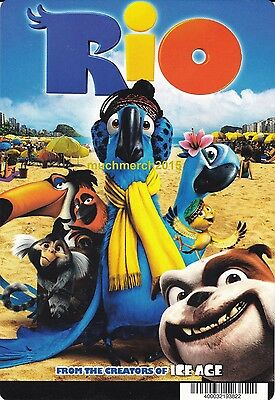 """RIO Movie Placard from Video Rental Store 5.5"""" x 8"""""""