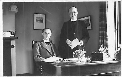 POSTCARD  DORSET BOURNEMOUTH Kinson  The  Vicar and  Curate  Rev R Lloyds & Hill