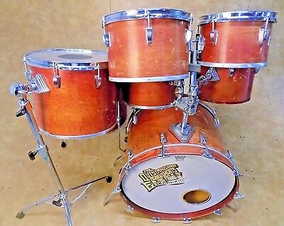 Vintage Ludwig 1970's 7pc Drum Set Shell Pack