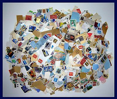 1 Kilo Of On & Off Paper Unsorted Stamps