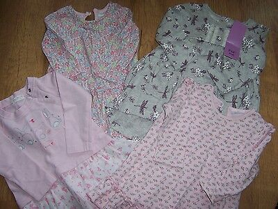 4 dresses for girl age 3-6 months - Next and F&F