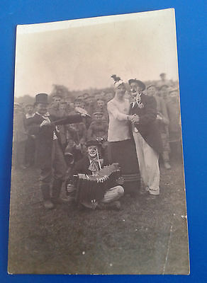 ww1 wwi original photo propaganda a music band and german soldiers behind