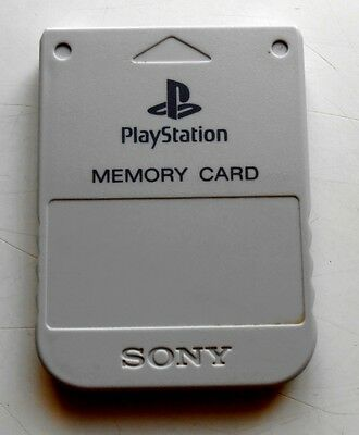 Carte Mémoire Blanche Officielle Sony PlayStation PS1 - Pal